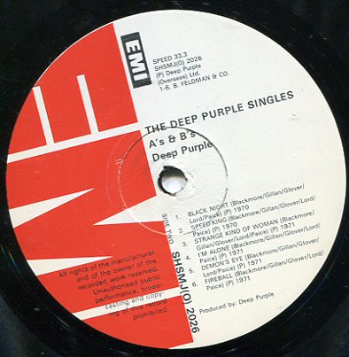 Deep Purple The Deep Purple Singles As And Bs Lp South