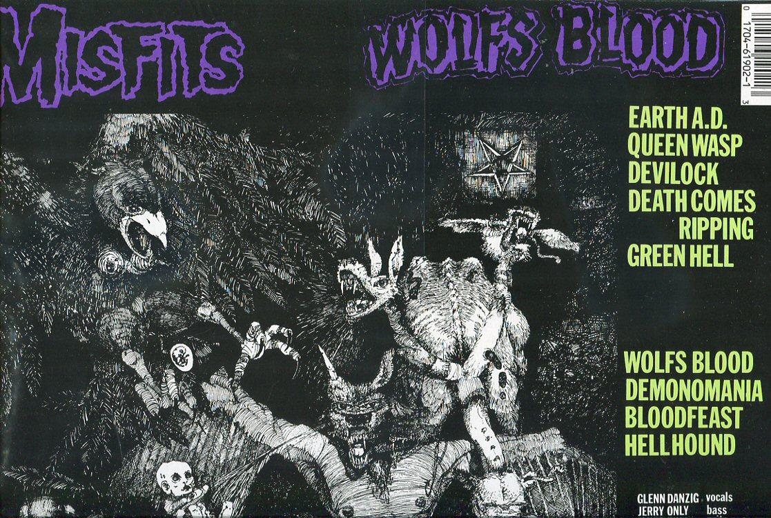Misfits Earth A D Wolfsblood Lp Us Misprint Tpl Records