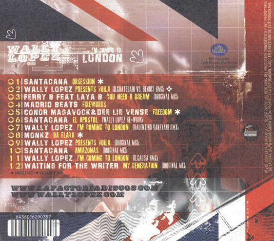 Wally Lopez Im Coming To London Cd Tpl Records