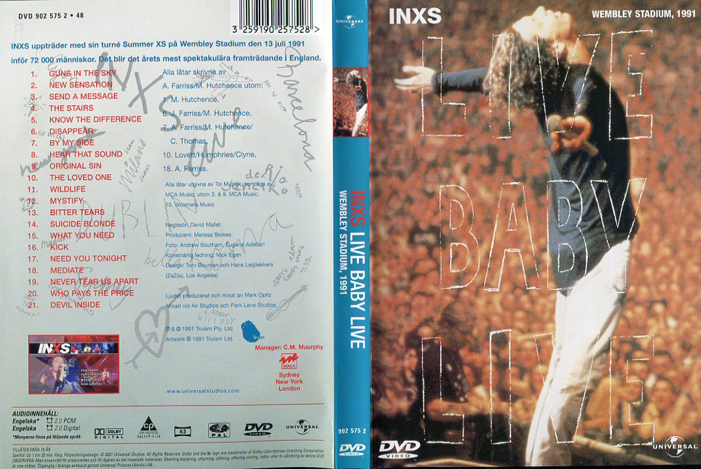 Inxs Live Baby Live Dvd Tpl Records