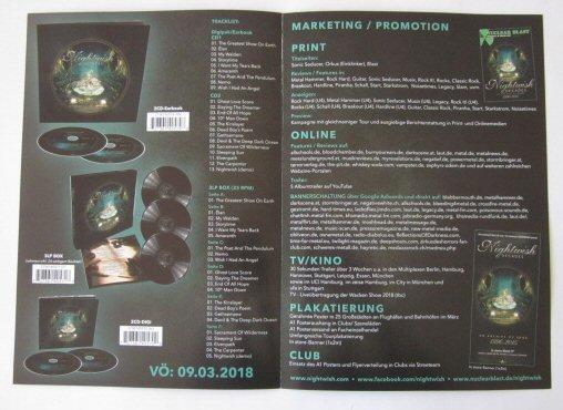 Nightwish -Decades flyer [promo]