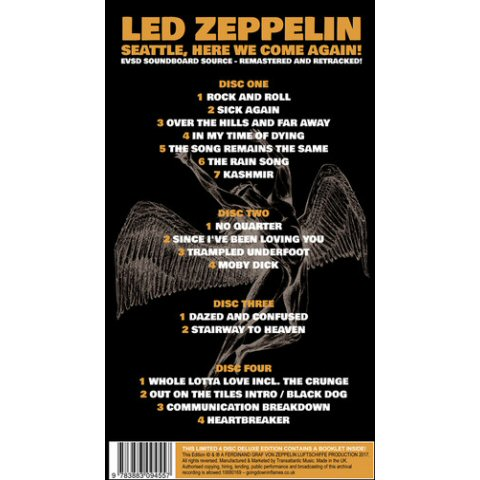 Led Zeppelin -Seattle Here We Come Again 4cd box